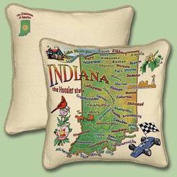 Indiana State Tapestry Throw Pillow