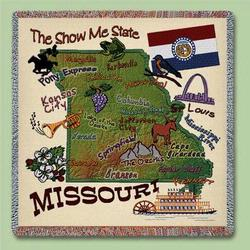 Missouri State Tapestry Lap Throw