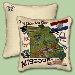 Missouri State Tapestry Throw Pillow