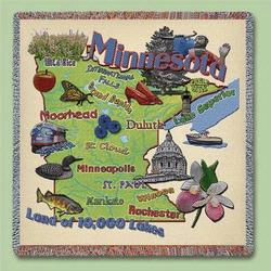 Minnesota State Tapestry Lap Throw