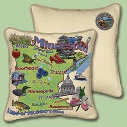 Minnesota State Tapestry Throw Pillow