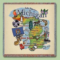 Michigan State Tapestry Lap Throw