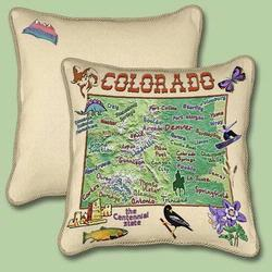 Colorado State Tapestry Throw Pillow