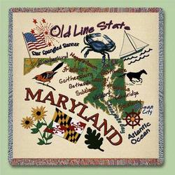 Maryland State Tapestry Lap Throw