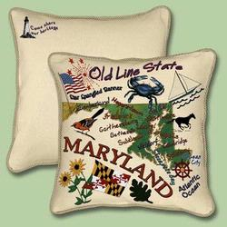 Maryland State Tapestry Throw Pillow