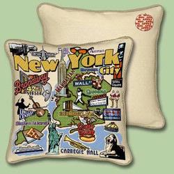 New York City Tapestry Throw Pillow