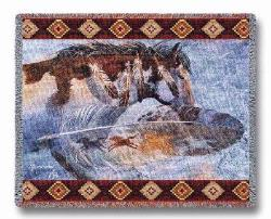 Horsefeathers Tapestry Throw