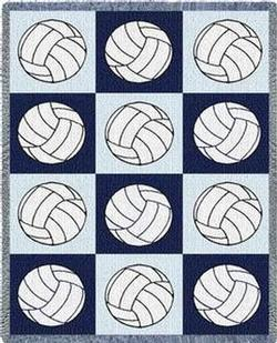 Volleyballs Throw Blanket