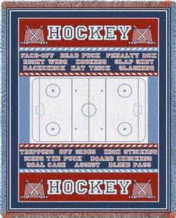 Hockey Field Throw Blanket