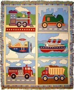 Planes, Trains and Automobiles Tapestry Throw