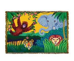 Jungle Characters Tapestry Throw