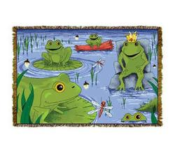 Bullfrogs Tapestry Throw