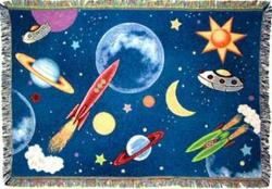 Planets Space Tapestry Throw