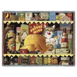 Ethel the Gourmet Cat Tapestry Throw