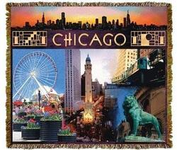 Chicago Skyline Tapestry Throw