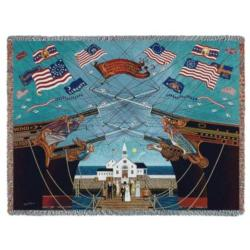 Dockside Marriage Tapestry Throw