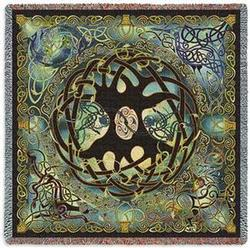 Celtic Tree of Life Tapestry Throw