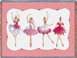 Four Ballerinas Tapestry Throw