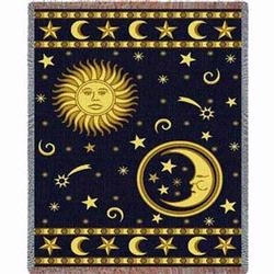 Moon and Stars Tapestry Throw