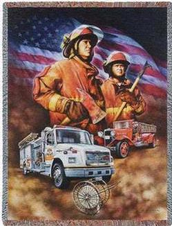 Firefighter Tapestry Throw