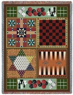Game Boards Tapestry Throw