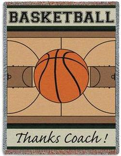 Thanks Coach Basketball Tapestry Throw