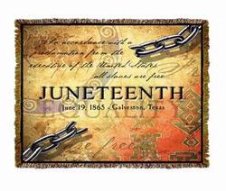 Juneteenth Tapestry Throw