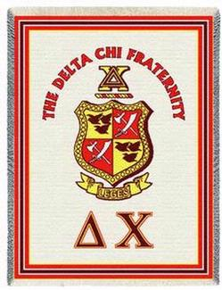Delta Chi Fraternity & Sorority Throw Blankets