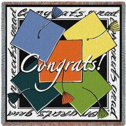 Graduation Caps Tapestry Throw