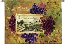 I am the Vine Tapestry Wall Hanging