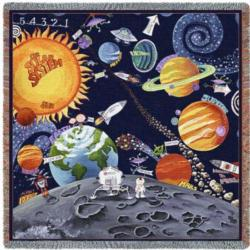 Solar System Lap Tapestry Throw