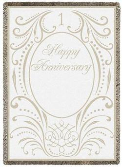 Anniversary Scroll 1 Year Throw Blanket
