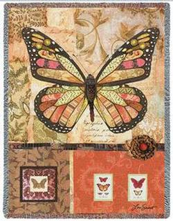 Baroque Butterfly Tapestry Throw
