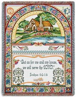 As For Me Joshua 24:15 Tapestry Throw
