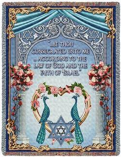 Chuppah Marriage Tapestry Throws