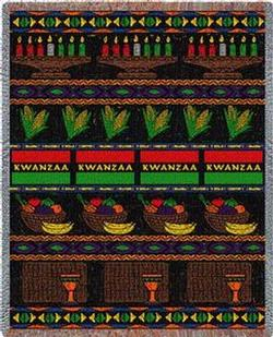 Kwanzaa Tapestry Throw