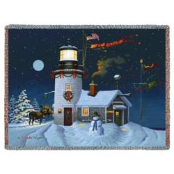 Take Out Window Lighthouse Tapestry Throw