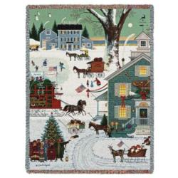 Cape Cod Christmas Tapestry Throw