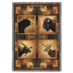 Big Game Heads Tapestry Throw