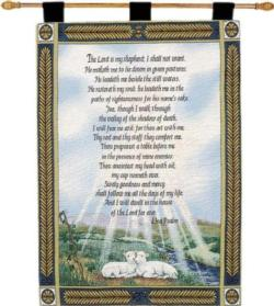 23rd Psalm Tapestry Wall Hanging