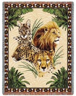 Big Cats Tapestry Throw