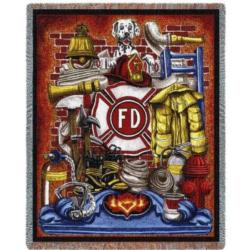 Fireman's Pride Tapestry Throw