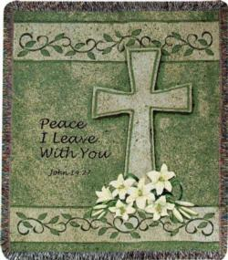 Peace I Leave With You John 14:27 Tapestry Throw