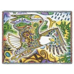 Bald Eagle Tapestry Throw