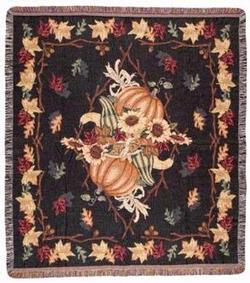 Awesome Autumn Tapestry Throw