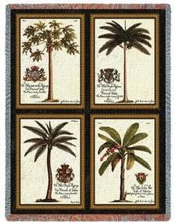 Royal Palms Tapestry Throw