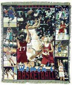 Women's Basketball Tapestry Throw