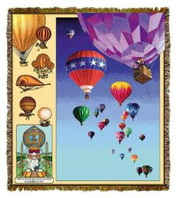 Ballooning History Tapestry Throw