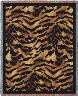 Tiger Skin Tapestry Throw
