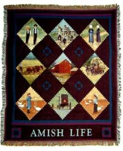 Amish Life Tapestry Throw